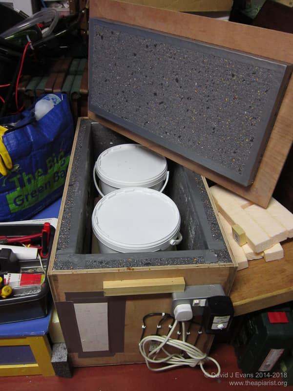 Honey warming cabinet