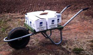 Hivebarrow and 50kg of fondant