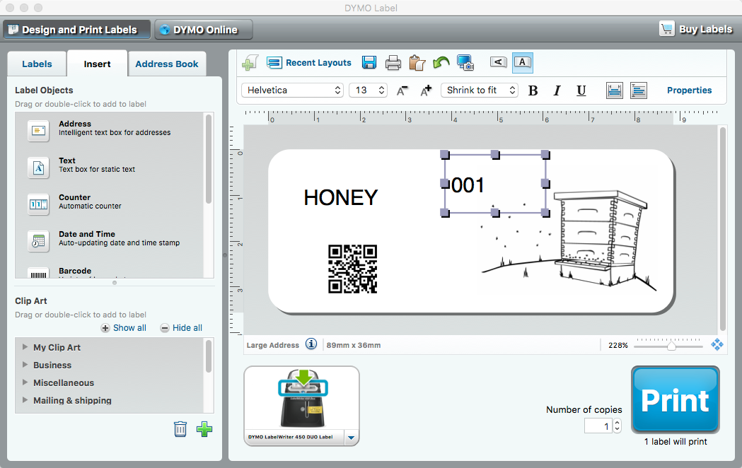 Honey archives the apiarist dymo labelling software solutioingenieria Images