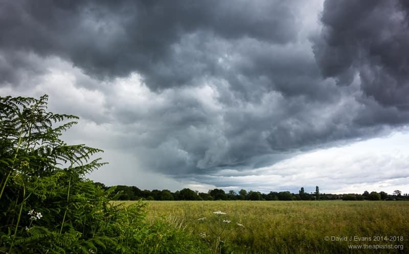 Summer storm ...