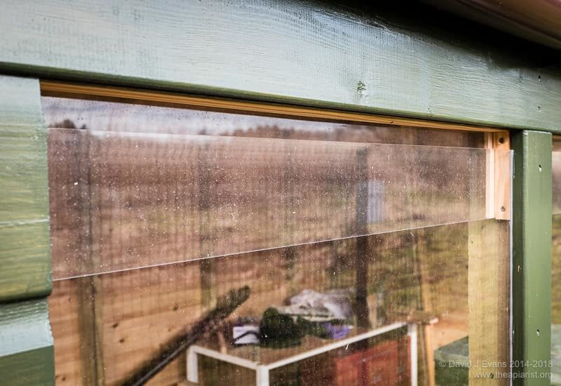 Bee shed window ...