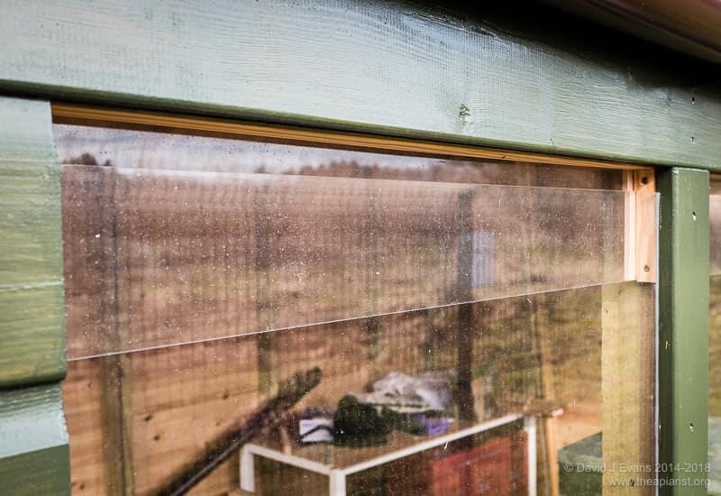 Bee shed window ...