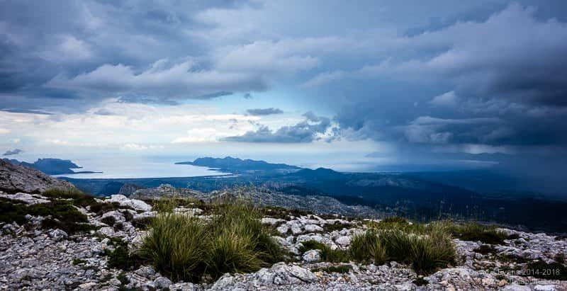 Thunderstorm overlooking the Bay of Pollenca