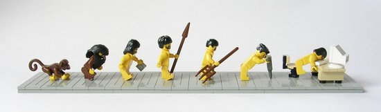 Lego evolution parody