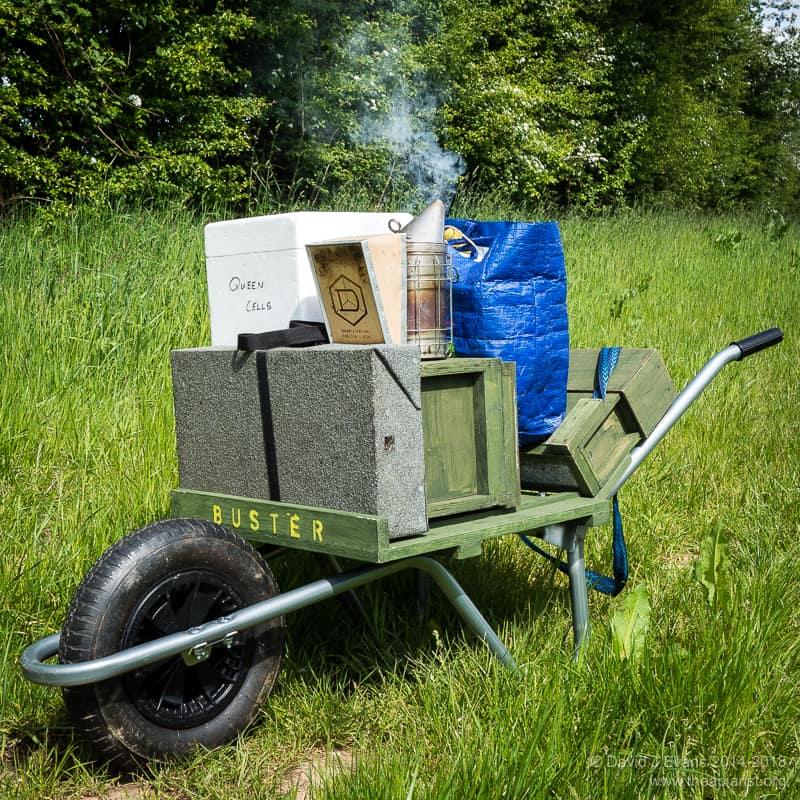 Bee bag and hivebarrow ...