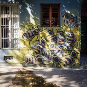 Santiago bee graffiti