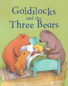 Goldilocks and the three bears fairy tale book cover