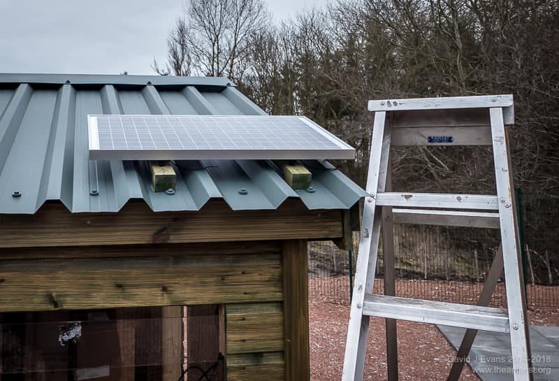 Solar panel installation ...