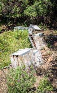 Derelict Spanish apiary