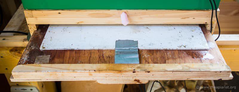Cedar floor and plywood tray ...