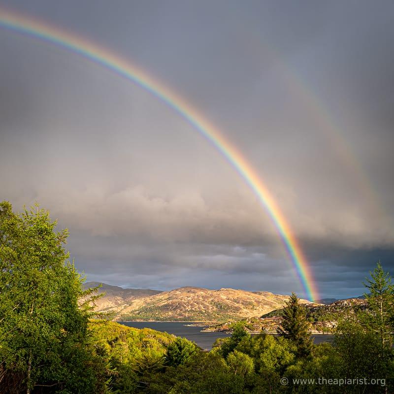 Loch Sunart rainbow, May 2021